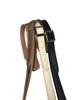 Thinny  Bone White  leather guitar strap w/ Bone Stitching with buckle