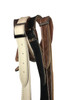 Thinny Vintage Brown  leather guitar strap w/ Bone Stitching with buckle