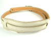 50's Vintage Style Bone White Leather Guitar Strap – Long