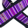 Purple Inca w/ Black Nylon Backing Guitar Slider Strap
