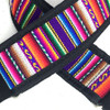 Neon Inca Slider Style Guitar Strap w/ Black Nylon Backing