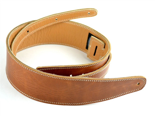 "2.5"" Vintage Brown Leather Guitar Strap Ultra Series"