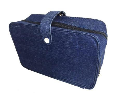Canvas Harp Case - Blue Denim