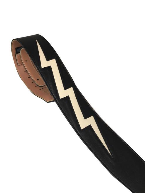 "2.5"" Black Leather with Bone Bolt"
