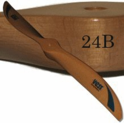24B wood propeller