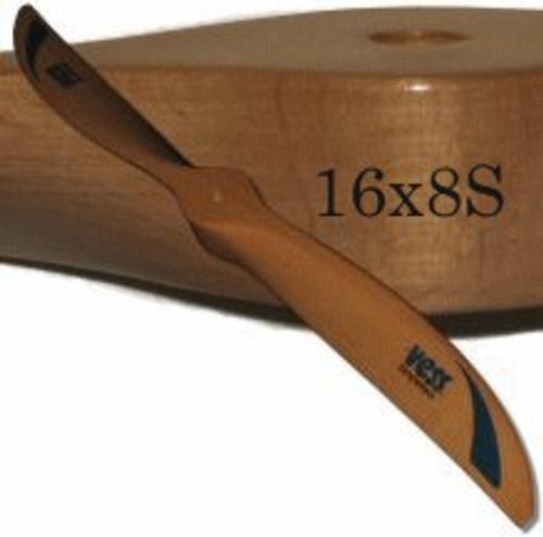 16x8 wood propeller