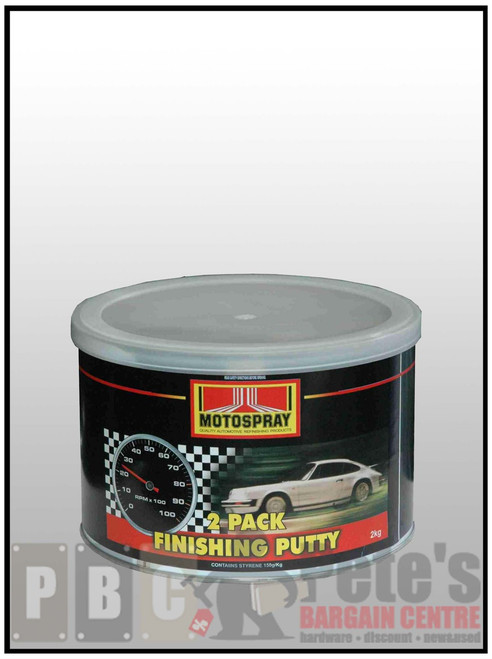 2 PACK FINISHING PUTTY   2kg Can