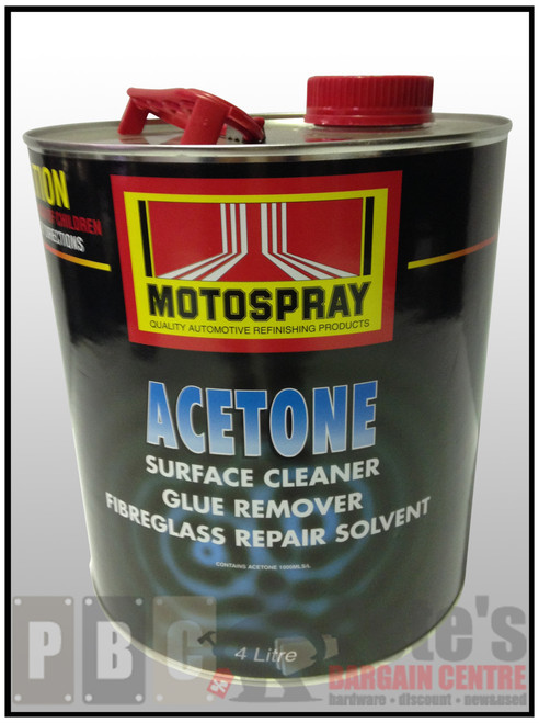 ACETONE   4 Litre Can