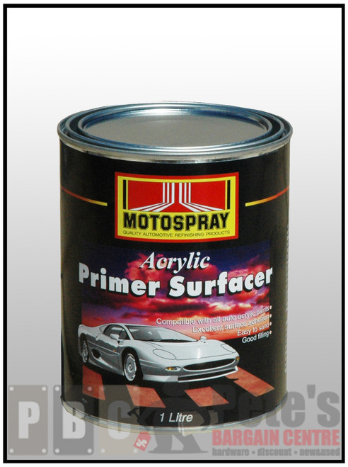 ACRYLIC PRIMER SURFACER  BLACK 1 Litre Can