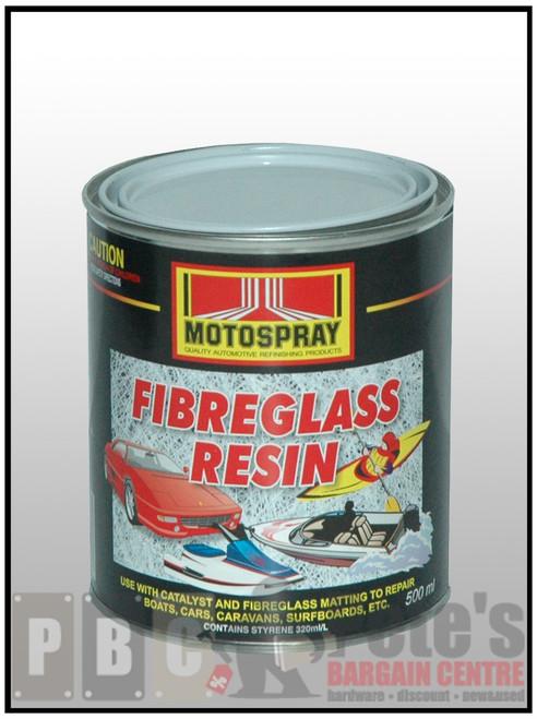FIBREGLASS RESIN 500ml Can
