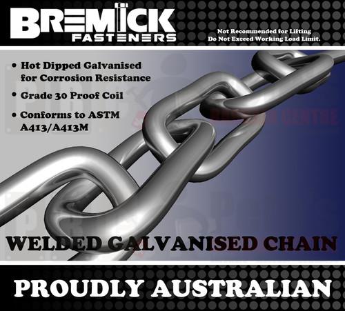 7.0mm Galvanised Chain Per Metre