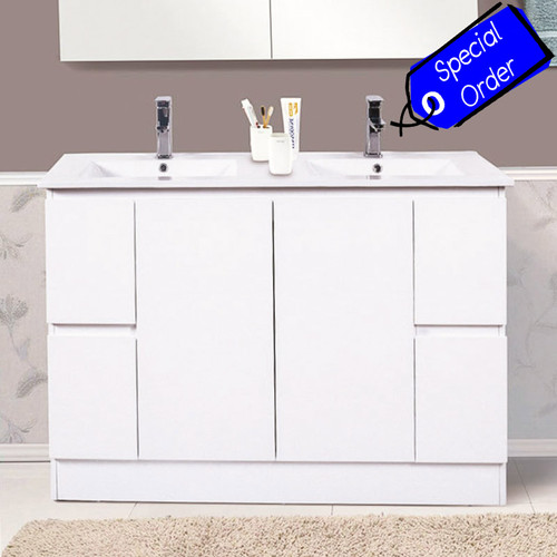 BVN-1200DB — Rio Freestanding Double Bowl Vanity