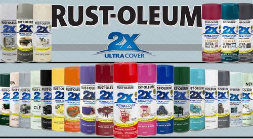 Rust-oleum 2X Ultra Cover -Aerosol Spray 340g paint*Choose your Colour*
