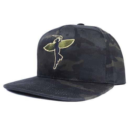 Mulitcam Black Snap Back Hat