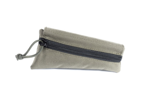 Olive Drab Green Canvas Triangle Stock Pouch