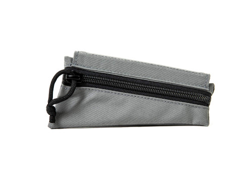 Grey Canvas Triangle Stock Pouch