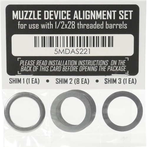 Muzzle Device Shim Kit (1/2x28)