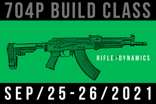 September 25-26, 2021 704 Pistol Build Class - Two Payments of