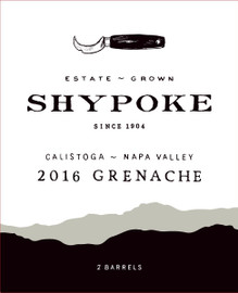 Shypoke Quilie's Grenache 2016