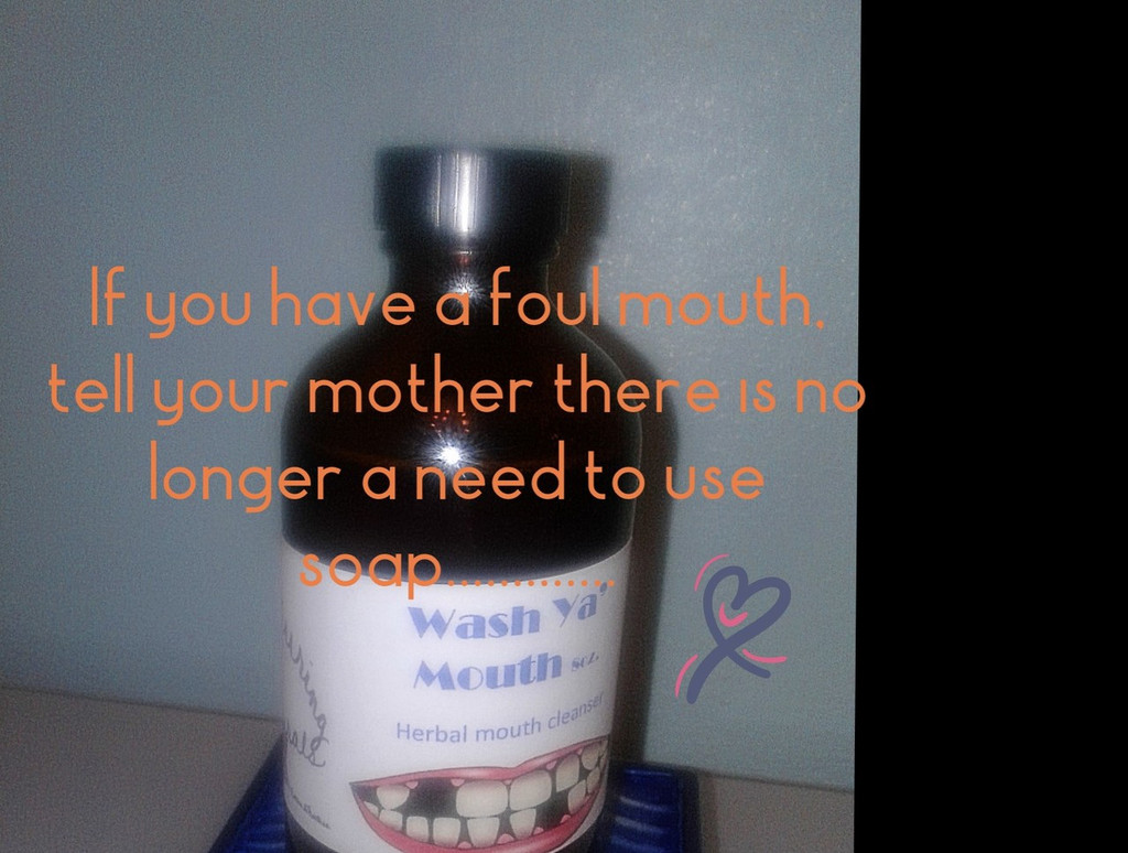Wash Ya' Mouth Herbal Oral Cleanser 8oz.