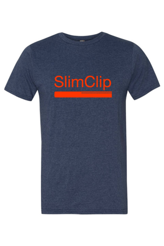 SlimClip Case • Heathered Navy Blue Tee Super Soft 90% Cotton | 10% Poly Blend