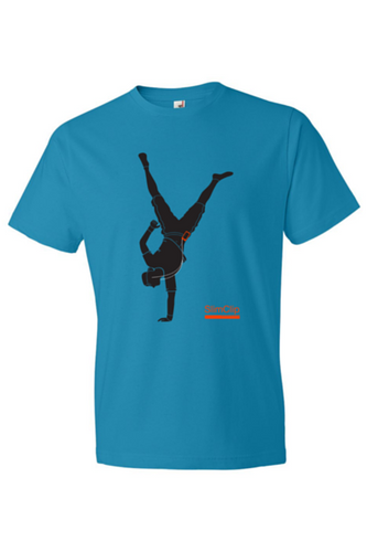 SlimClip Case • 'HANDSTAND' Blue Tee Super Soft 100% Cotton