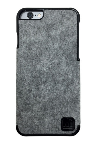 LuxBox Case Tony Black for iPhone 6 & iPhone 6S • Real 100% Wool and Black Lacquer