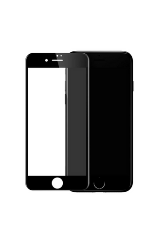theWTFactory ScreenGuard for iPhone 8 - BLACK Contoured screen cover that is contoured the the curved edge of the iPhone screen
