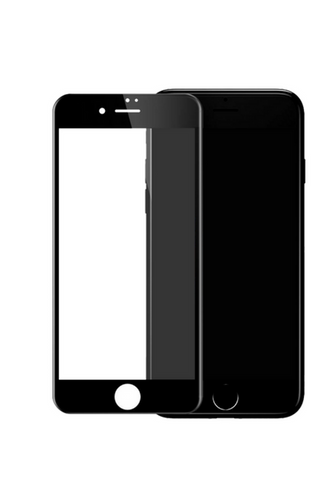theWTFactory ScreenGuard for iPhone 8+ PLUS - BLACK Contoured screen cover that is contoured the the curved edge of the iPhone screen