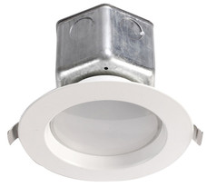 "LIGHT THE FUTURE 4"" LED 10W SMOOTH TRIM RECESSED JBOX DOWNLIGHT 3000K 650LM 120V DIMMING ENERY STAR - D304-N-90 3000K"