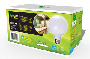 MAXLITE BR30 4PK 2700K 8W 120V E26 DIM 110BS 650LM RPL65 ES ( 3 PIECES TO BOX - 4 BOXES PER CARTON  TOTAL 12 LIGHTS )