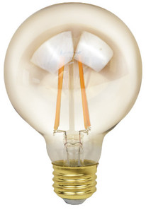 5W 120V E26 350LM 2200K Globe Filament Enclosed Fixture Rated