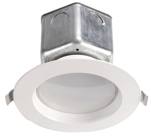 "DAYLIGHT - LIGHT THE FUTURE 4"" LED 10W SMOOTH TRIM RECESSED JBOX DOWNLIGHT 5000K 650LM 120V DIMMING ENERY STAR - D304-N-90 3000K"