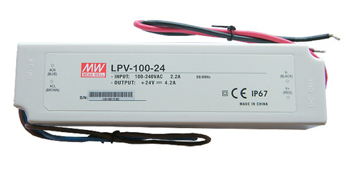 MEAN WELL IP67 CONSTANT VOLTAGE LED DRIVER - LPV-100-24