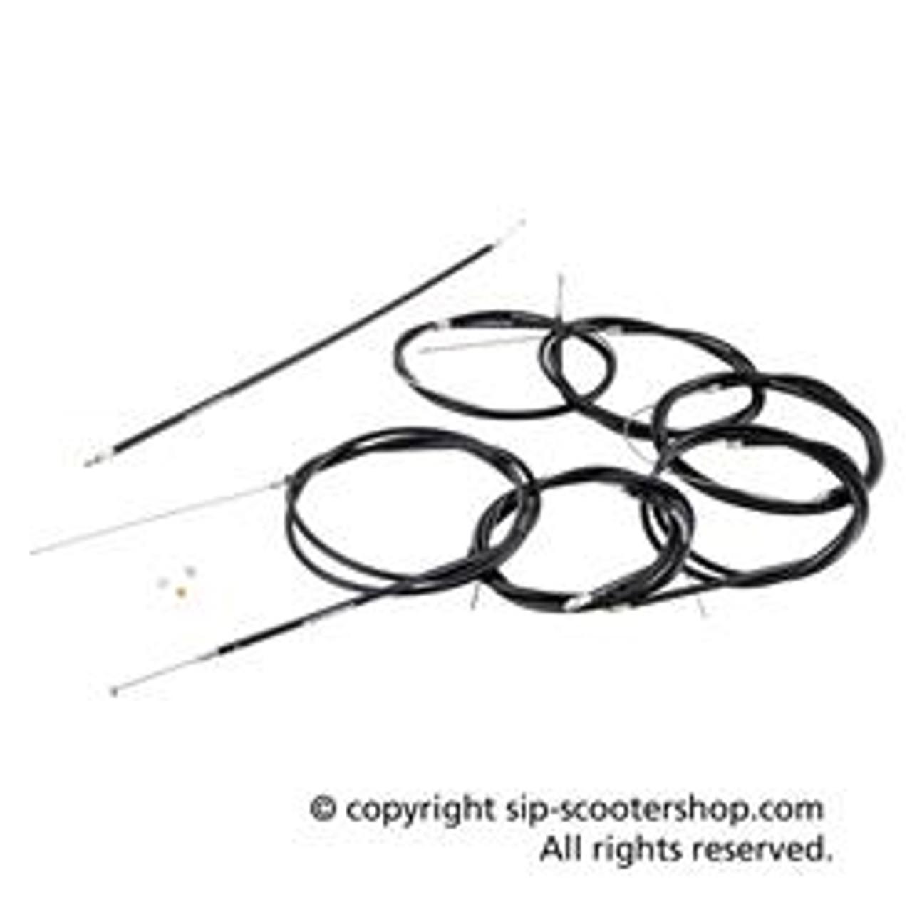 Lambretta Cable Set Complete Torsion-Free SIP Pro - Black (CW-94181400)