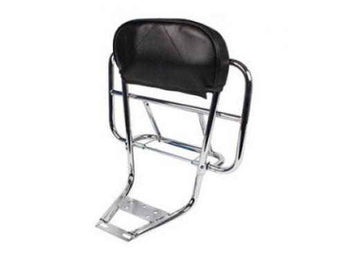 Cuppini 2in1 Rear Rack Backrest - Chrome (SO-25037000)