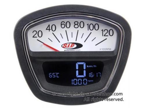 Lambretta SIP Rev Counter/Speedometer - S3 White (DW-50000830)