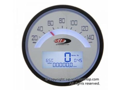 Lambretta SIP Rev Counter/Speedometer - S1-2 White (I0-50000910)