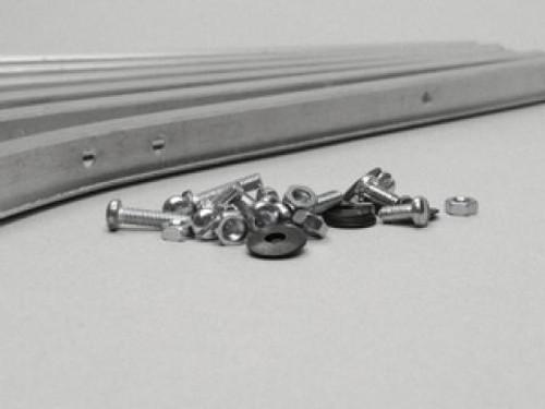 Lambretta Floorboard Alloy Strip Set Front Casa LI  1/2 (70-8013401)
