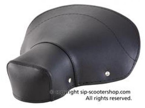 Lambretta Seat Cover Saddle Rear SIP - Black (L0-24104920)
