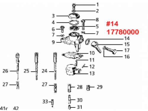 Dellorto SI Carburetor Inlet Gasket Ring Inner Piaggio (V9K-17780000)