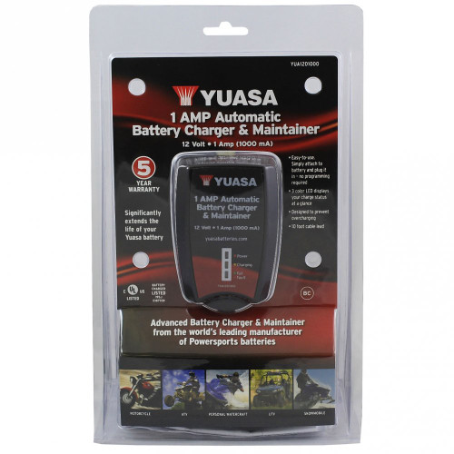 Universal Battery Charger & Maintainer 12v 1amp YUASA (DW-74-9120)