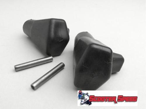 Lambretta Center Stand Feet Set Rubber Casa - Black (58-T213/8007300)