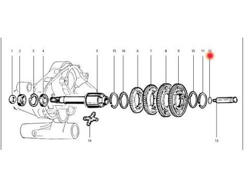 Vespa Gear Selector Rod Washer Piaggio (8001-87600000)