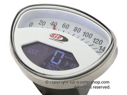 Vespa SIP Rev Counter/Speedometer - Rally/Super White