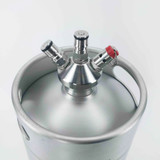 Mini Keg - 2L Stainless - With Tapping Head