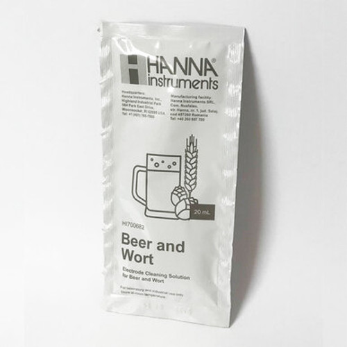 Electrode Cleaning Solution for Beer and Wort