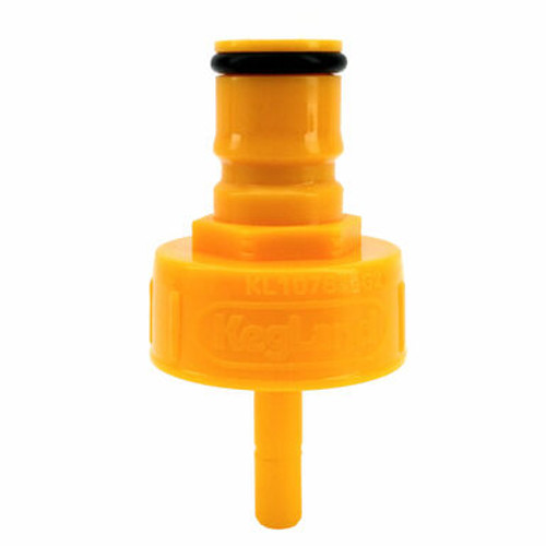 Carbonation And Line Cleaning Cap - Plastic - Yellow