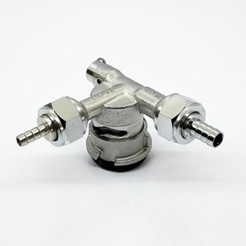Keg Coupler - D-Type Low Profile - 90 Degrees