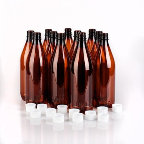 750ml Plastic Beer Bottles (dozen)